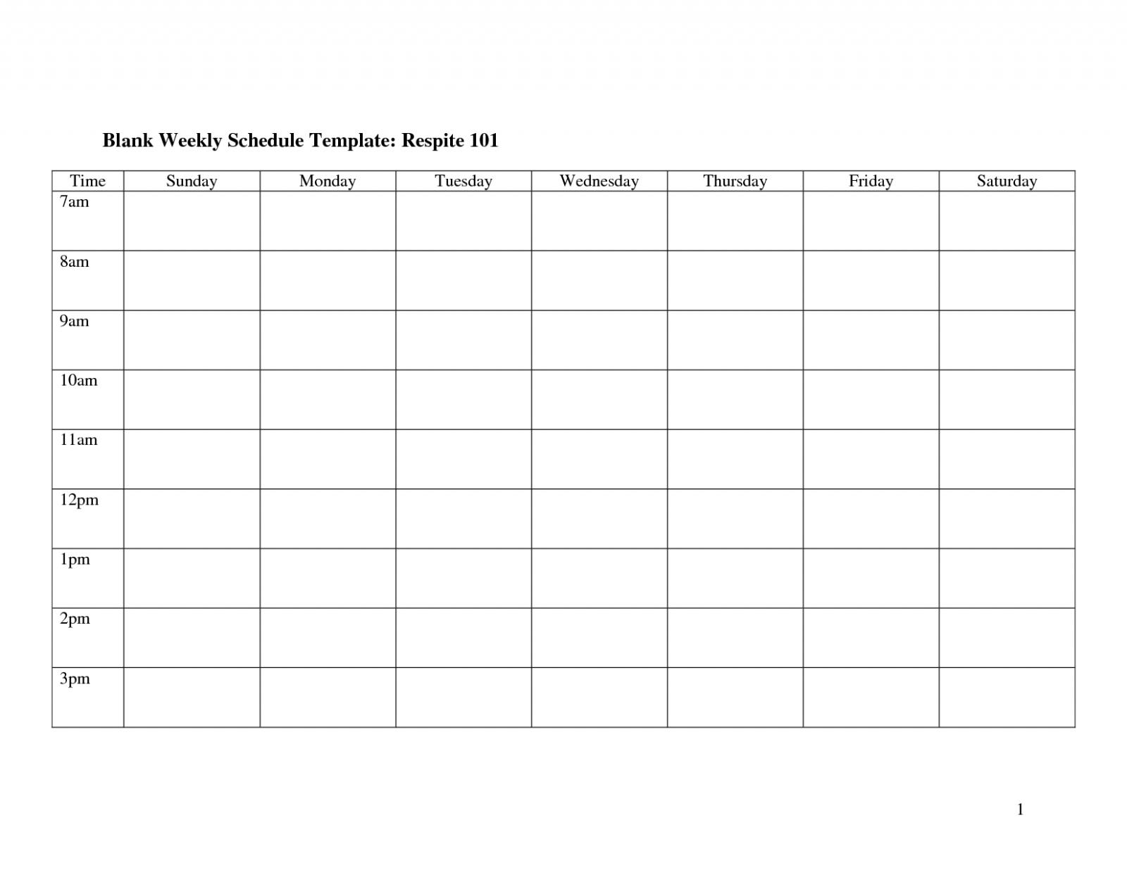 Weekly Calendar Template Monday To Friday | Example Calendar Printable