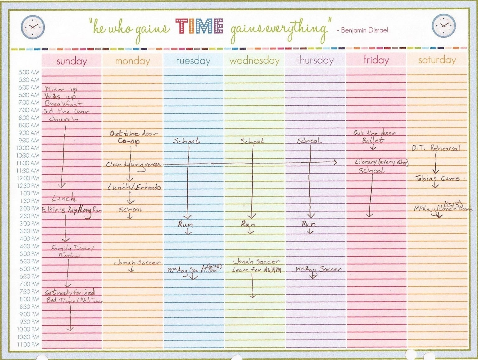 Weekly Calendar Template With Time Slots Free Download - Calendar Template 2021