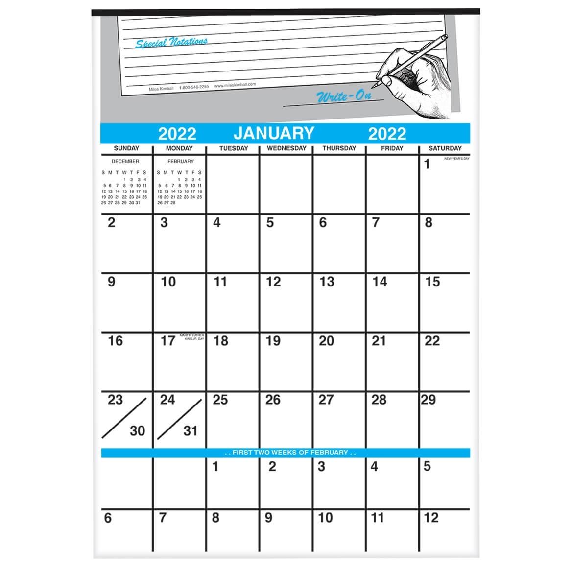Write-On Calendar Junior/Wall Calendar - Miles Kimball