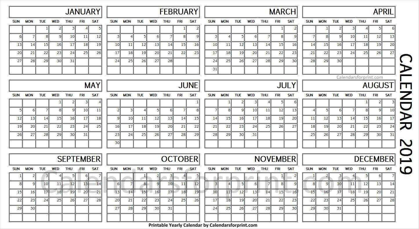 Year Calendar 1 Page   Ten Free Printable Calendar 2020-2021